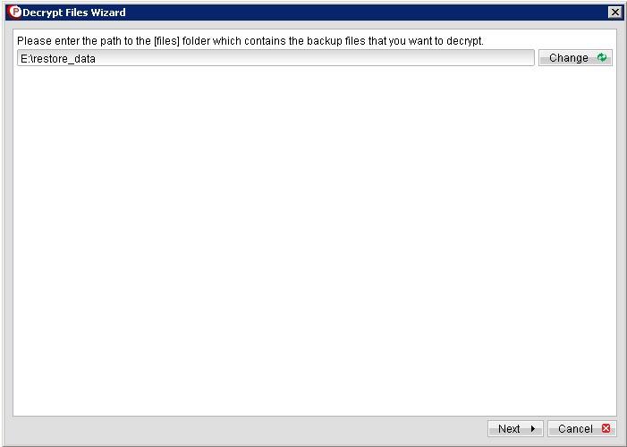 Bulk Restore giúp phục hồi lượng dữ liệu lớn bằng thiết bị Removable HDD/NAS