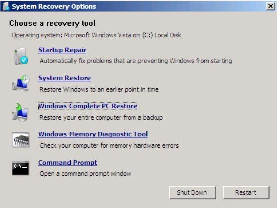 Khôi phục toàn bộ server Windows