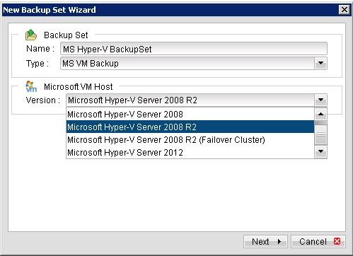 Sao lưu và phục hồi các máy ảo MS Hyper-V
