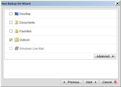 Sao lưu và phục hồi email Outlook, Windows Mail