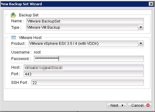 Sao lưu và phục hồi các máy ảo VMware