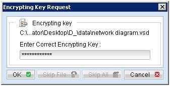 Nhập Encrypting Key để giải mã