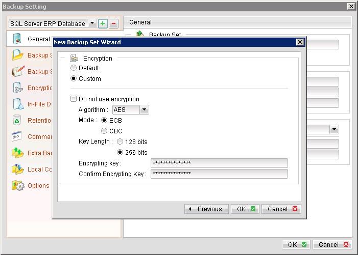zBackup hỗ trợ mã hóa 256-bit AES