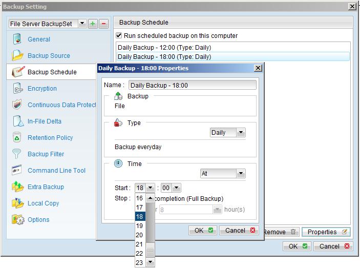 zBackup hỗ trợ sao lưu tự động theo lịch và thời gian thực (CDP)